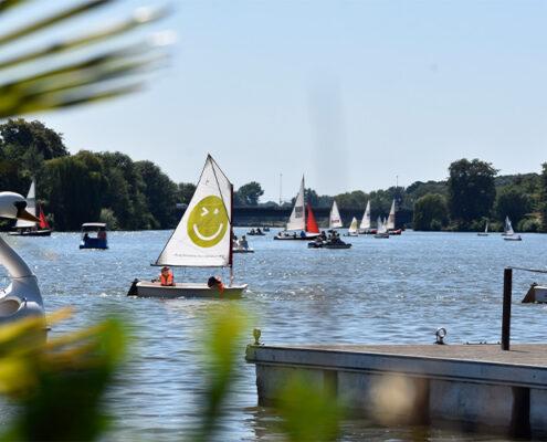 Gartenlandschaftbau Münster GUW und die Optimisten auf dem Aasee