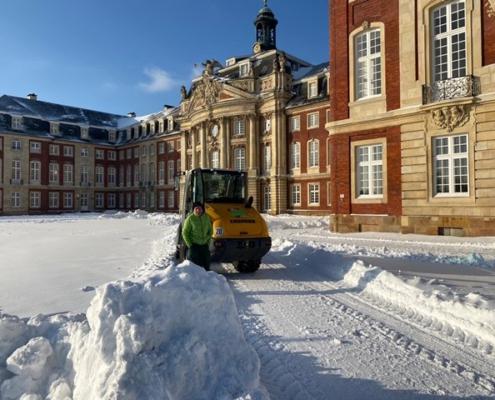 Schneeräumen der Straßen und Plätze in Münster